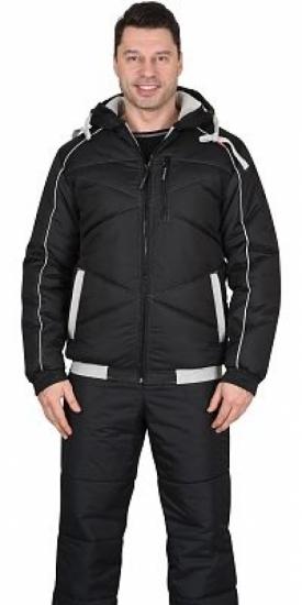 """Куртка """"ИМИДЖ"""" цвет темно-синий,  черный, графит."""