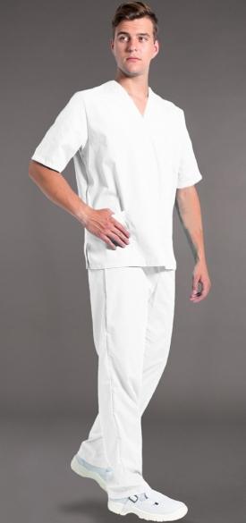 Костюм мужской хирурга (тк.Бязь,145), белый