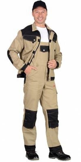"""Костюм """"Вест-Ворк"""" куртка кор.,, полукомбинезон, цвет бежевый."""
