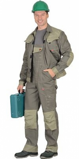 "Костюм ""Вест-Ворк"" куртка кор.,, полукомбинезон, цвет оливковый"